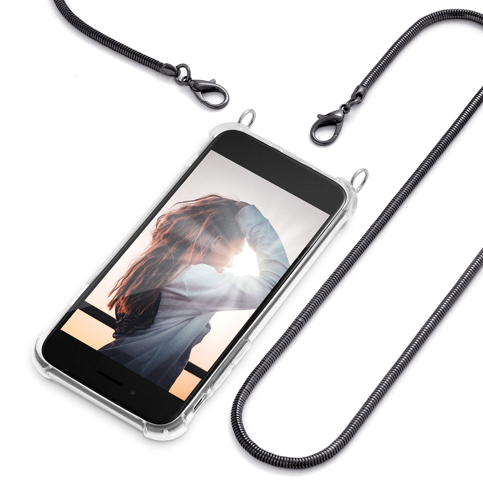 Cross Body Phone Case Necklace | N°3 GLAM METAL | Cicerly