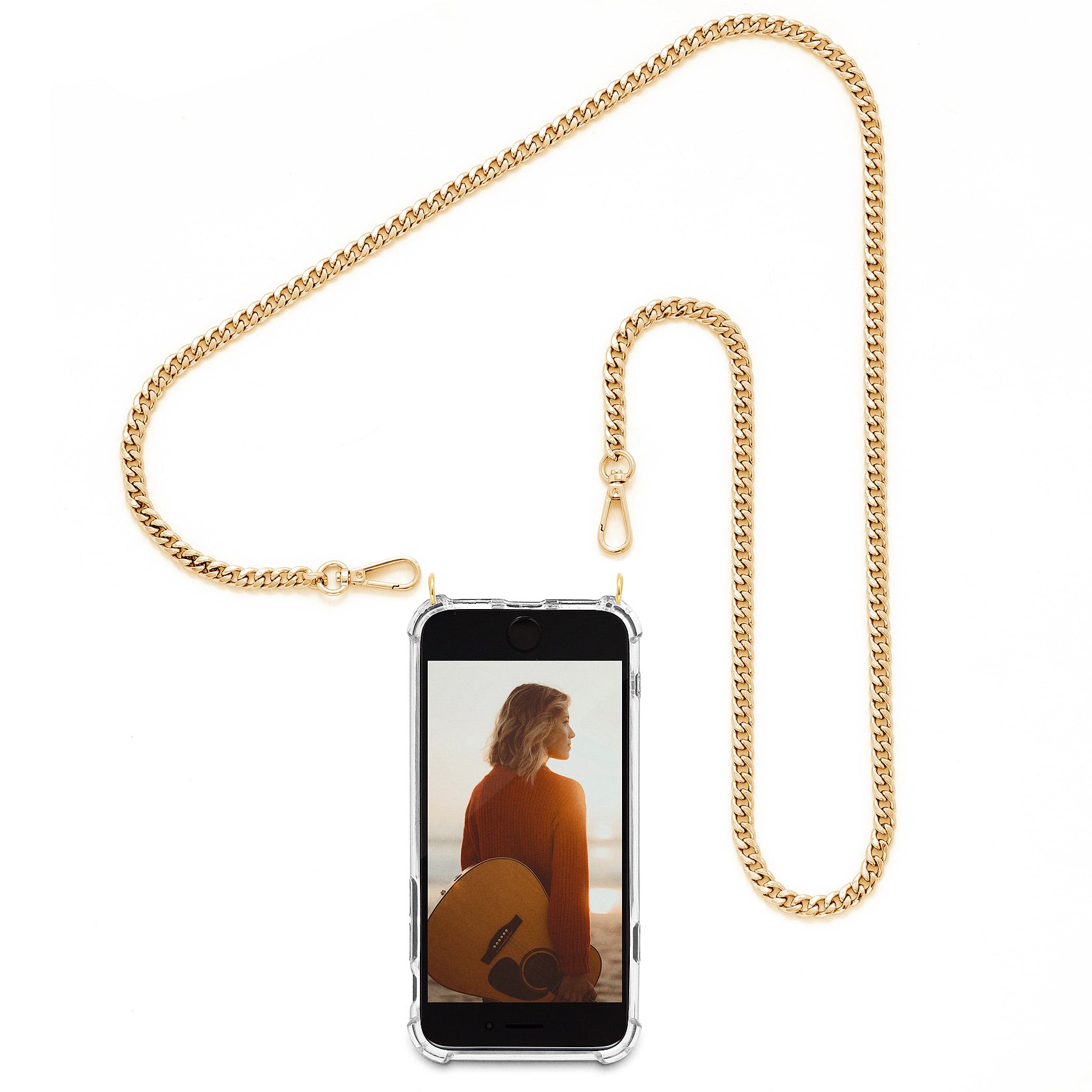 Cross Body Phone Case Necklace | N°9 GLAM GOLD | Cicerly