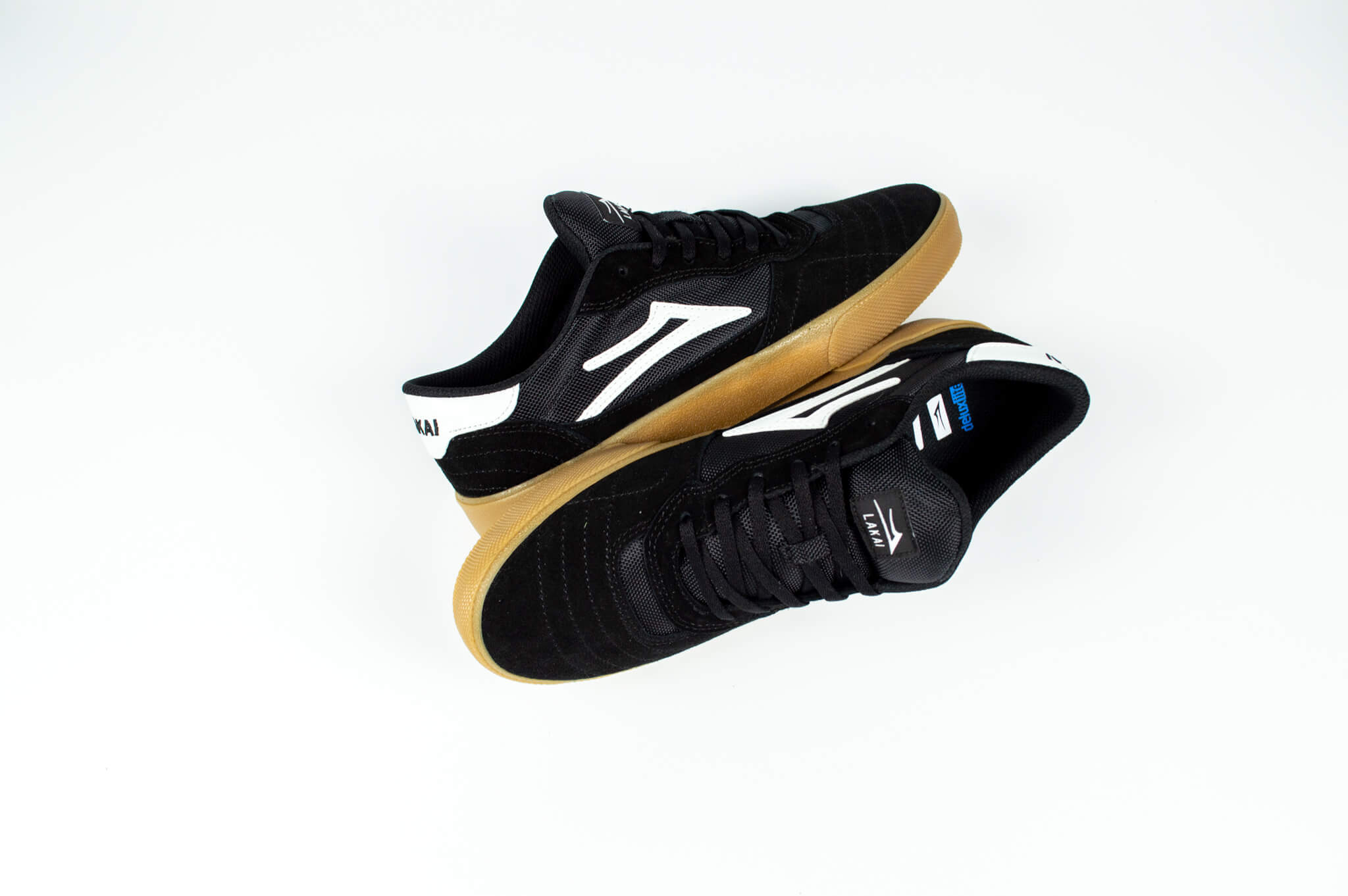 Lakai Cambridge Skate Shoes Black / Gum