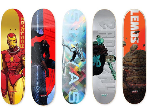 Primitive x Marvel Skateboard Decks