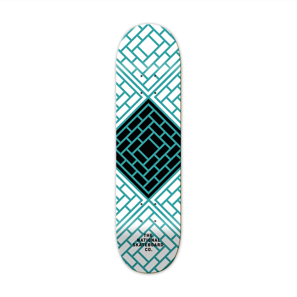 "The National Skateboard Co. Tesselate Blue 8.00"" Medium Concave Deck"