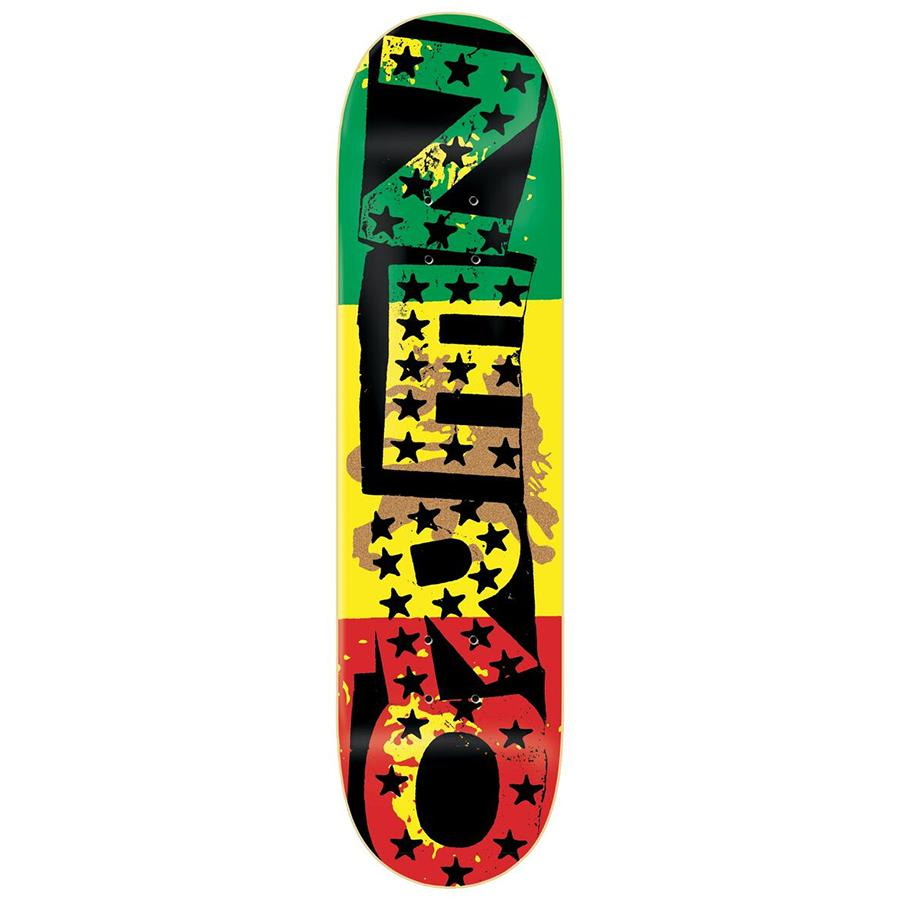 "Zero Skateboards Rasta Punk Tommy Sandoval 8.25"" Skateboard Deck"