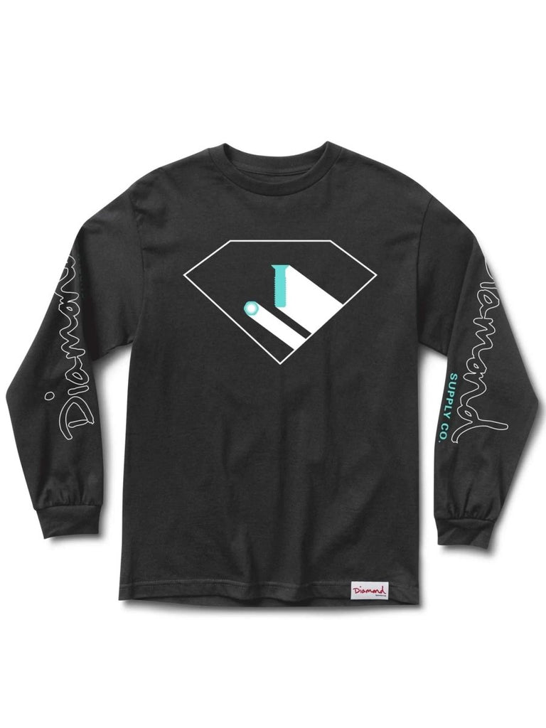 Diamond Supply Co. Industry Standard Black Long Sleeve T-Shirt - North Street Skate