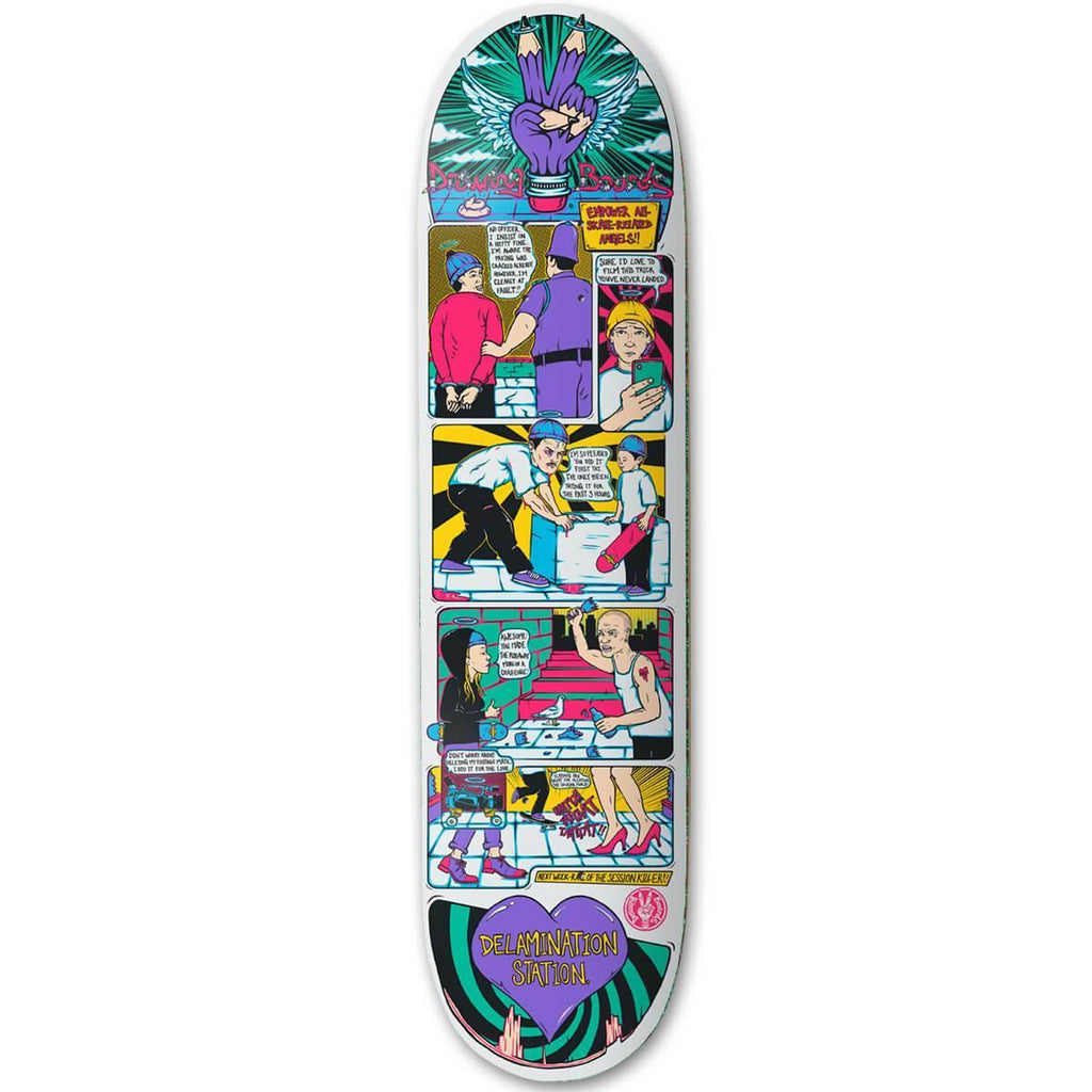 "Drawing Boards Angels 7.75"" Skateboard Deck"