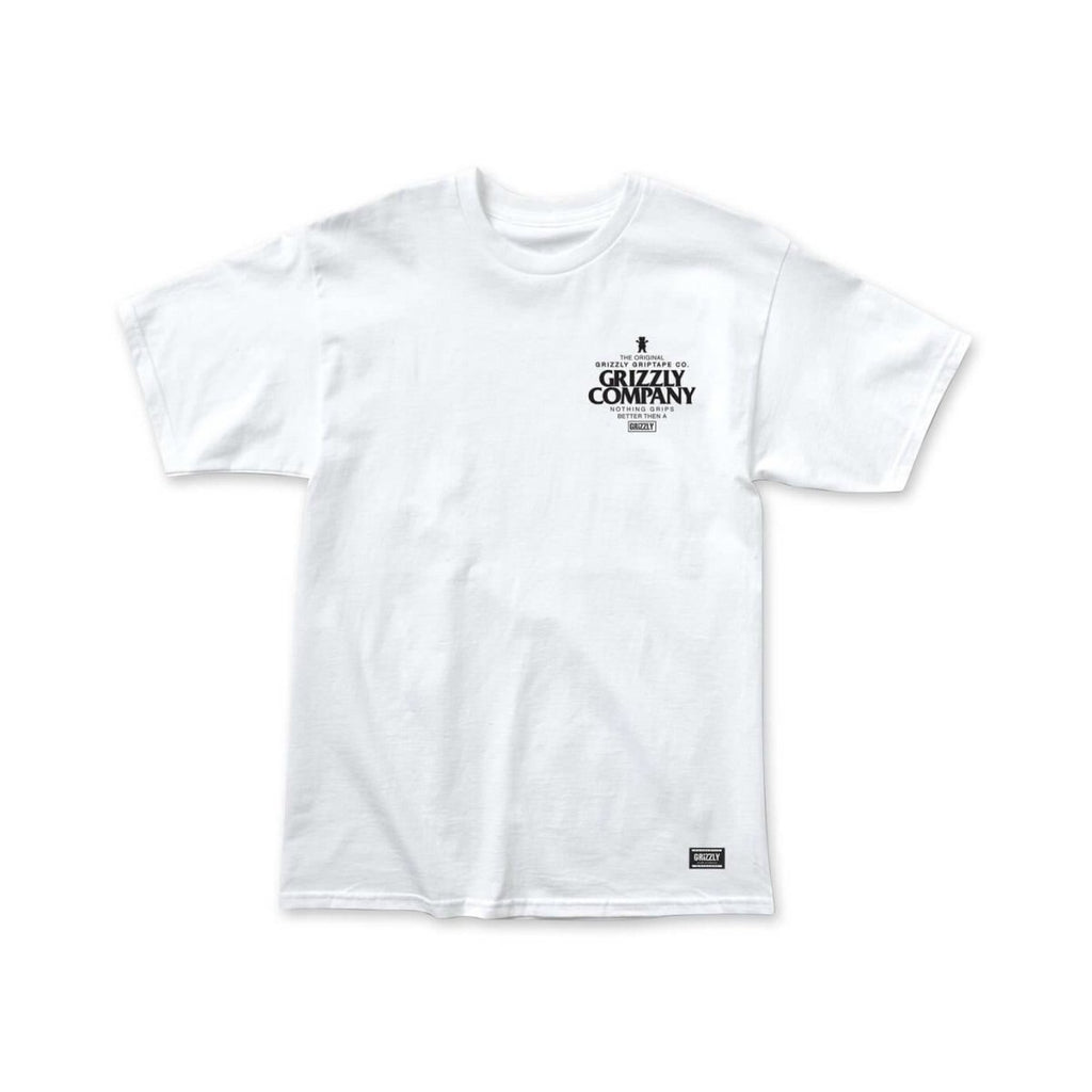 Grizzly Griptape White Grip Better T-Shirt Front