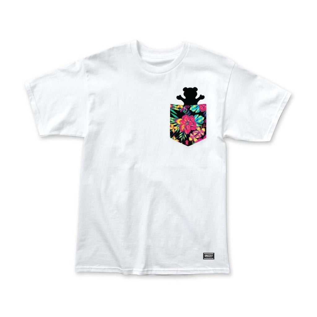 Grizzly Griptape White Maui Pocket Bear T-Shirt