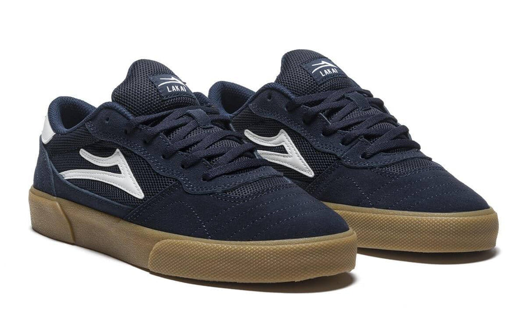 Lakai Navy and Gum Skate Shoe