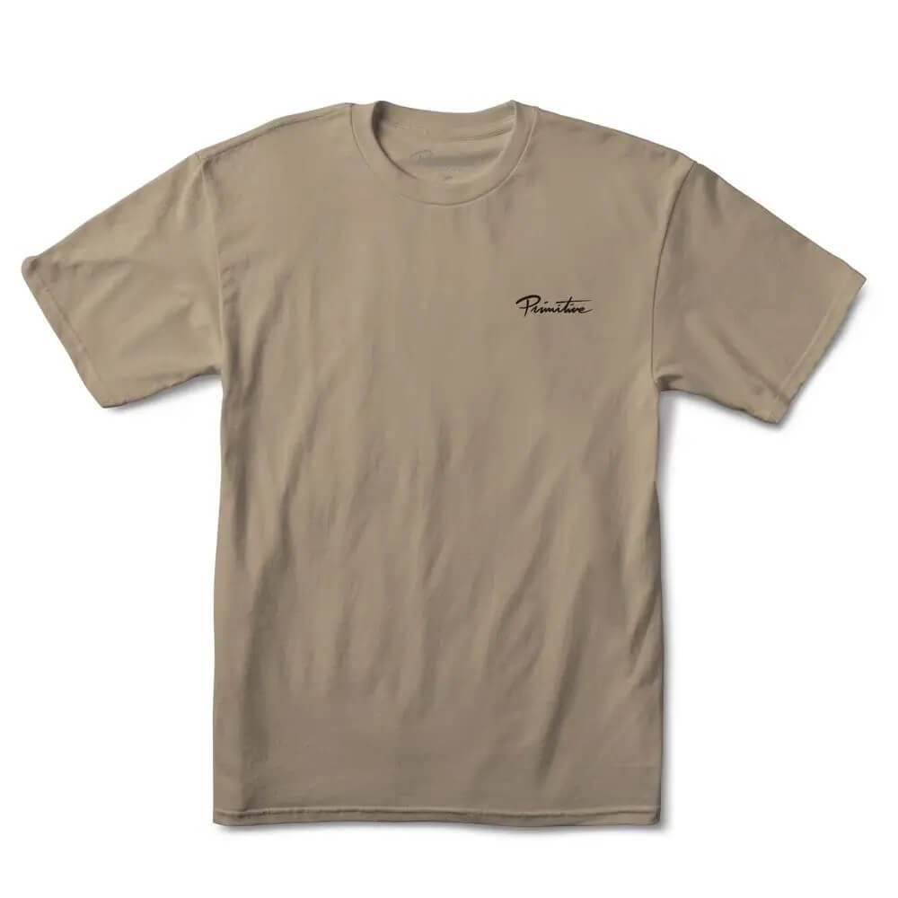 Primitive Skateboarding Revival T-Shirt Sand