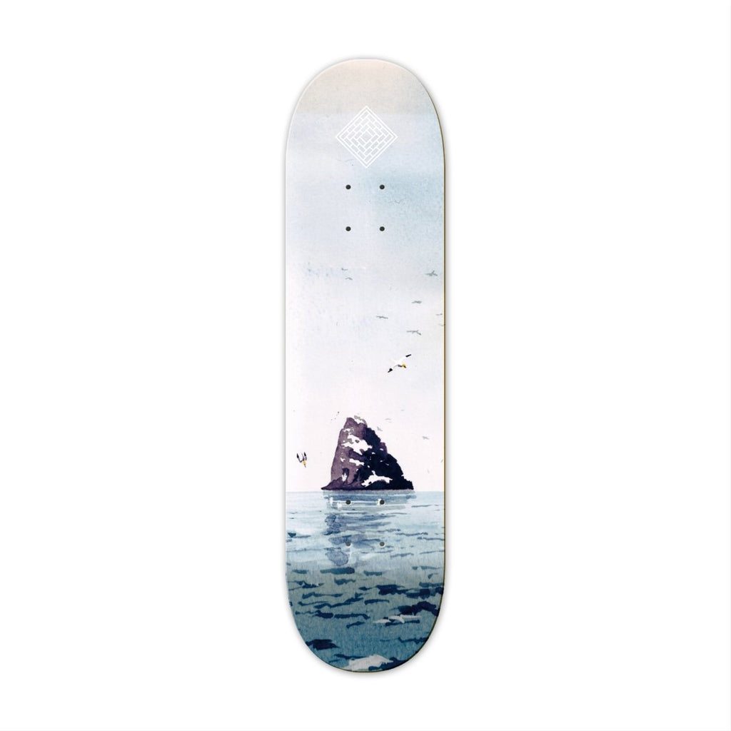 "The National Skateboard Co. Black Rock 8.375"" High Concave Deck - North Street Skate"