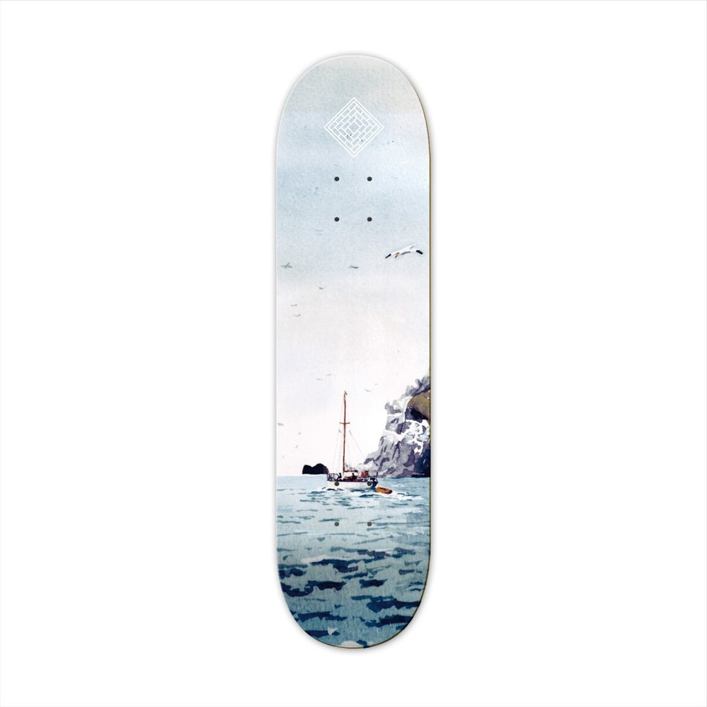"The National Skateboard Co. Sailing Boat 8.25"" High Concave Deck - North Street Skate"