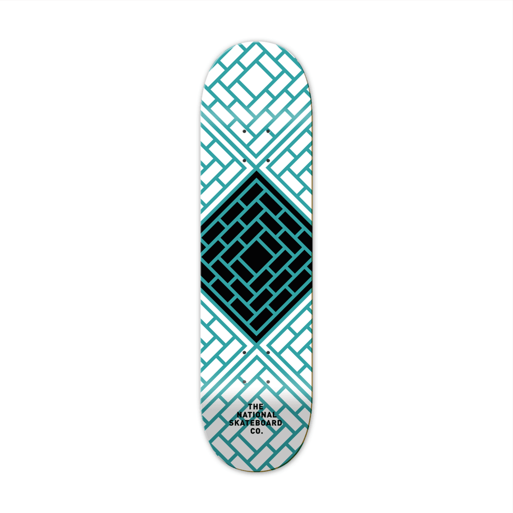 "The National Skateboard Co. Tessellate Blue 7.25"" Medium Concave Deck - North Street Skate"