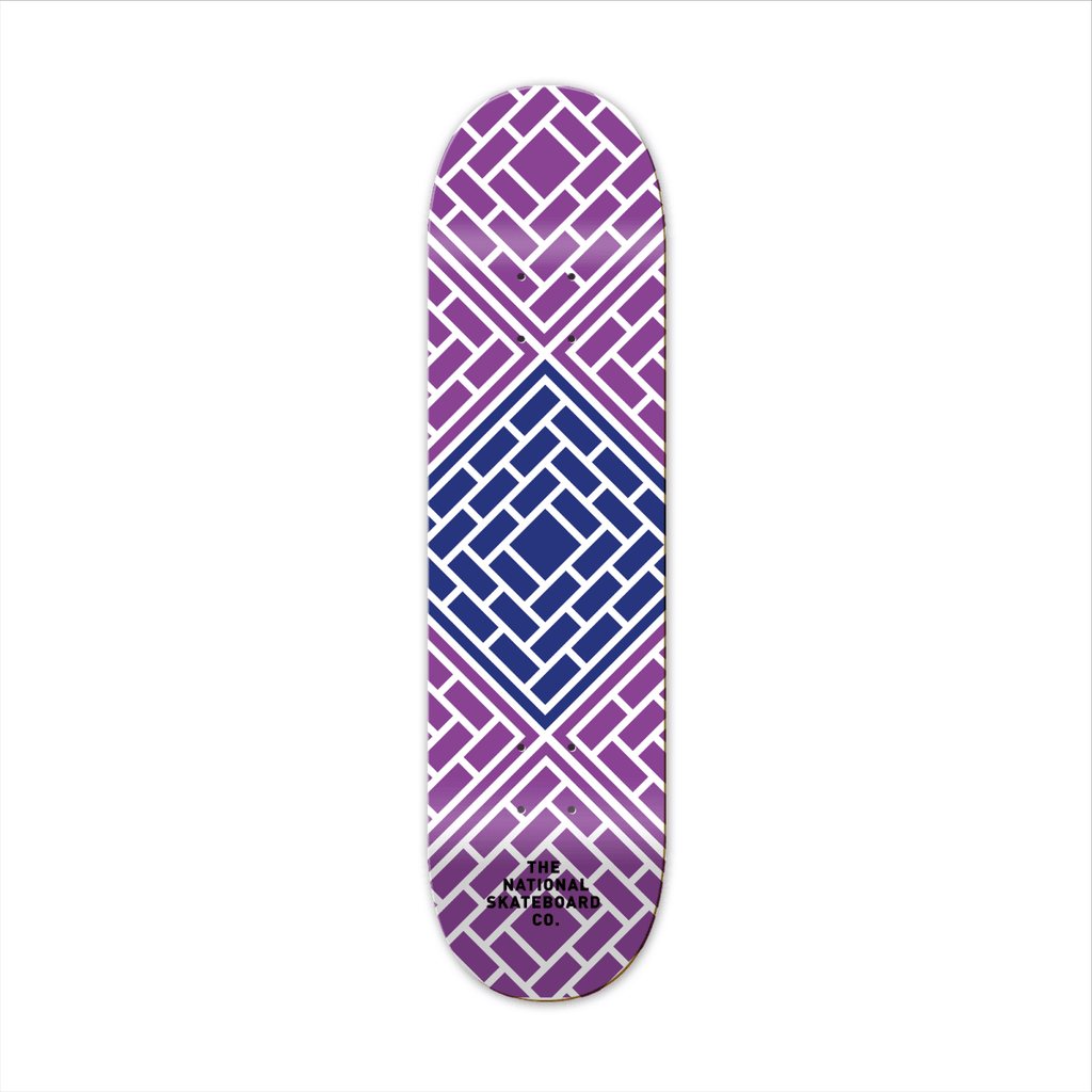 "The National Skateboard Co. Tessellate Purple 8.375"" Medium Concave Deck - North Street Skate"