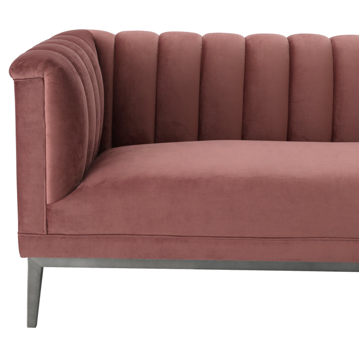 Sofa Raffles, aksamit w kolorze roche faded rose