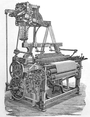 Strong Calico Loom with Planed Framing and Catlow's Patent Dobby