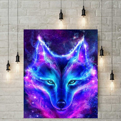 5D Diamond Painting - Mystieke Wolf