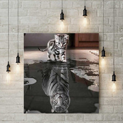 5D Diamond Painting - Baby Tijger