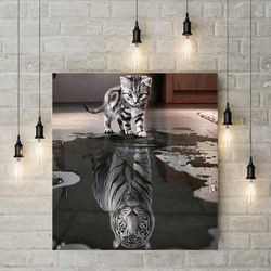 XXL 5D Diamond Painting - Baby Tijger