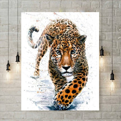 5D Diamond Painting - Aquarel Geopard