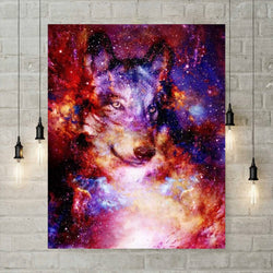 5D Diamond Painting - Melkweg Wolf