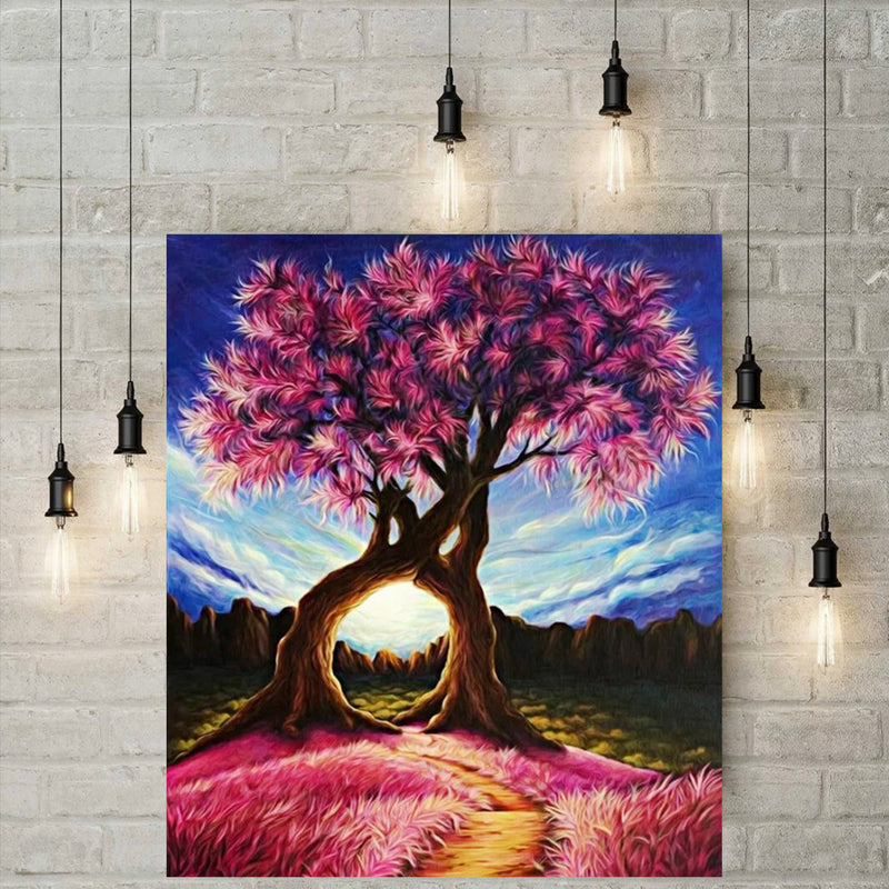 5D Diamond Painting - Roze Boom
