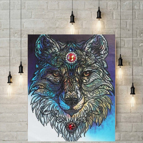 5D Diamond Painting met parels - De Wolf