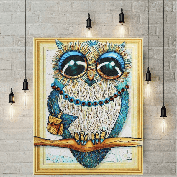 5D Diamond Painting met parels - De Uil