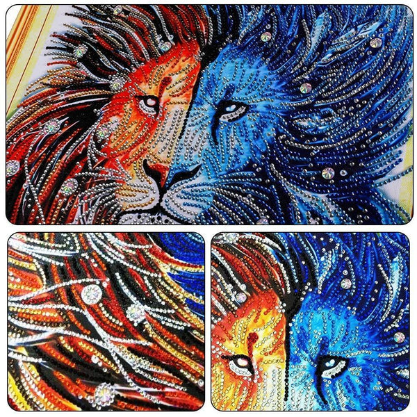5D Diamond Painting met parels - Mystio Tijger