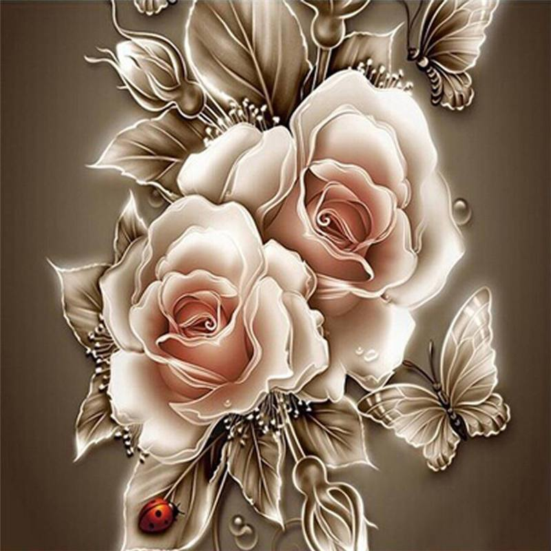 5D Diamond Painting - Rozen