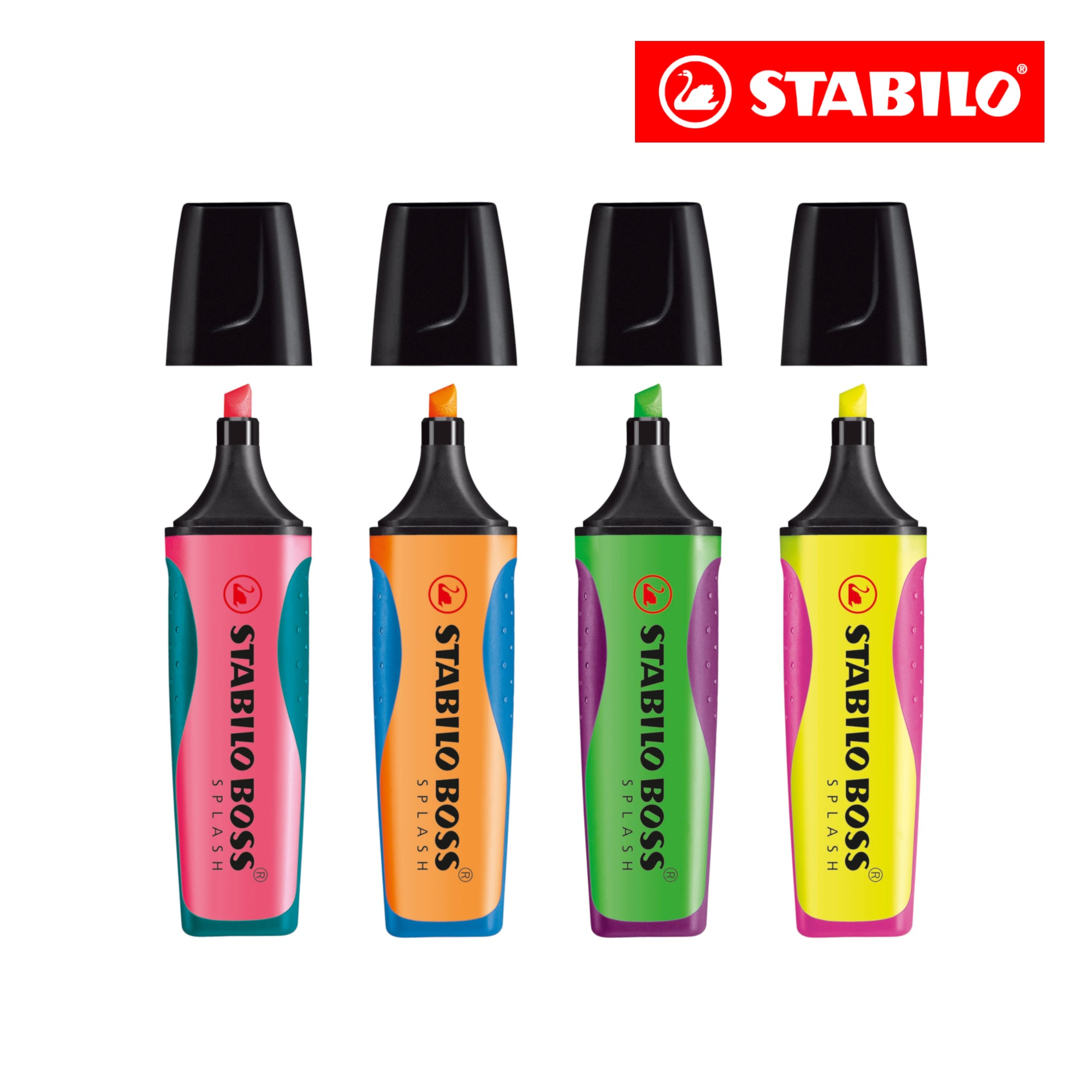 STABILO BOSS SPLASH Highlighter (Set of 4 colours)