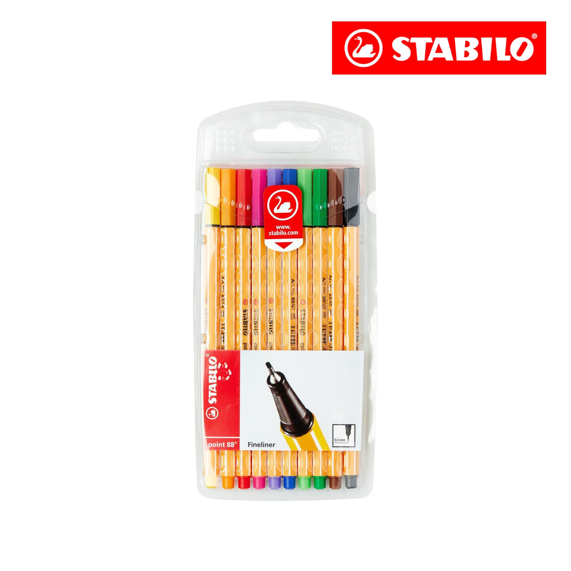 STABILO point88 wallet of 10