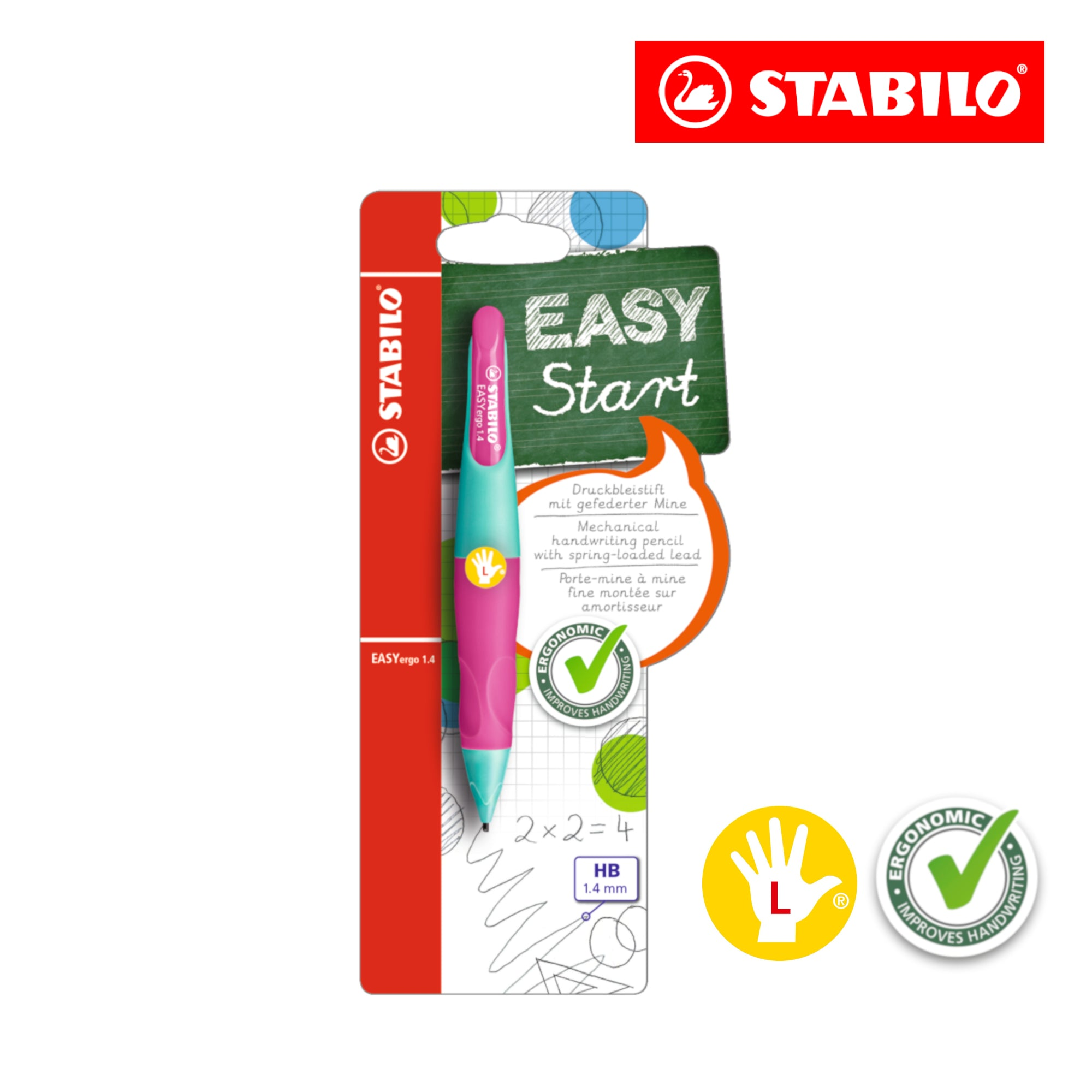 STABILO EASYergo 1.4mm Ergonomic Mechanical Pencil (Left-Hander)