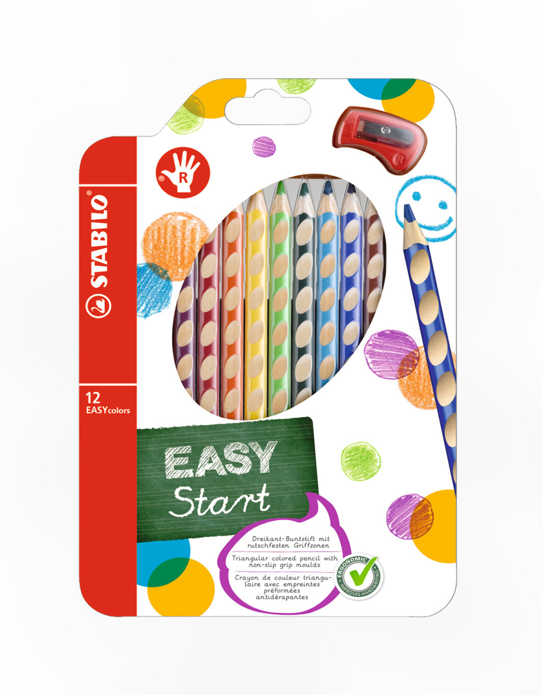 STABILO EASYstart EASYcolors RH set of 12