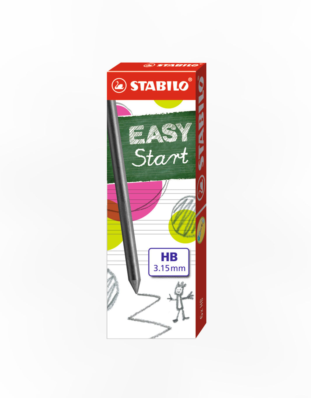 STABILO EASYstart Ergo 3.15mm Lead refills HB set of 6