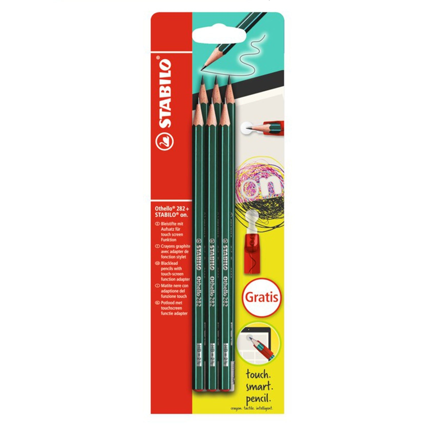 STABILO Othello 282+ Graphite pencil set of 6 - Schwan-STABILO -Most colourful Stationery Shop