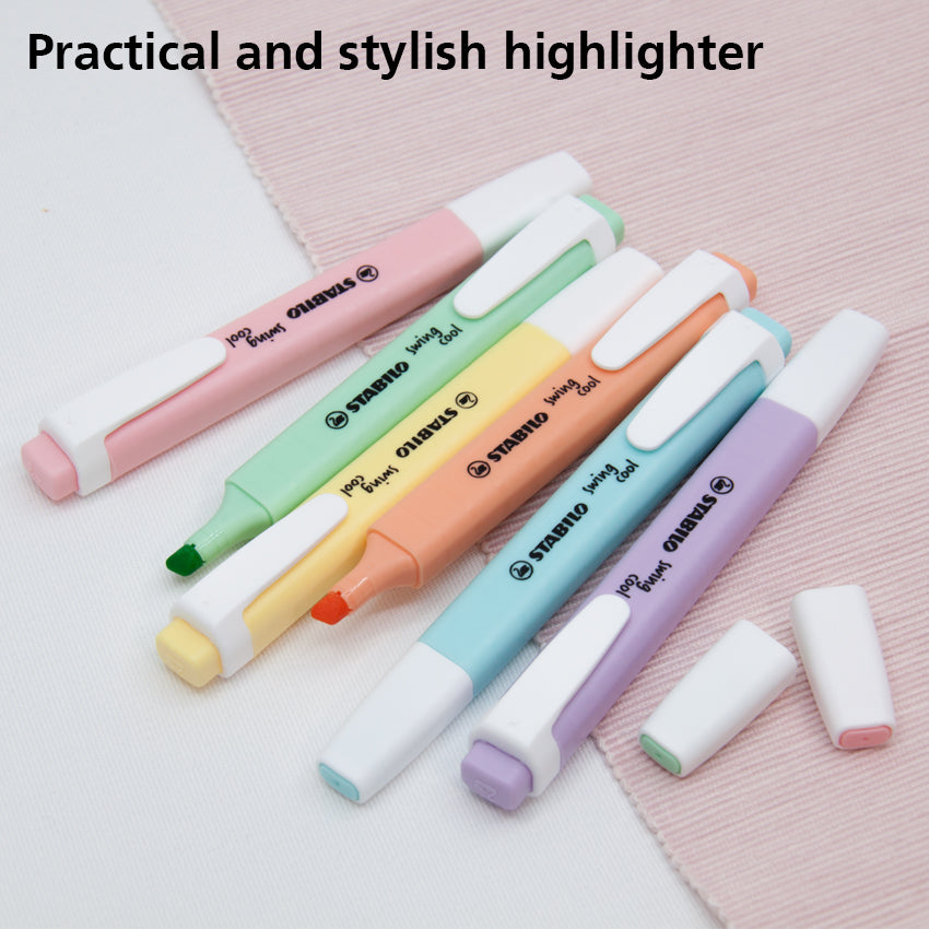 STABILO Swing Cool Pastel Highlighter 6pcs (New Edition)