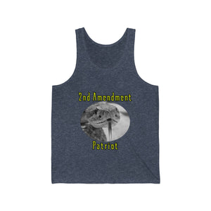 2nd Amendment Patriot Design Tank Top with Gadsden flag on back - Unisex - Warwares Military Shirts and More