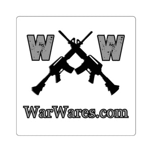 WarWares Brand Square Stickers - Warwares Military Shirts and More