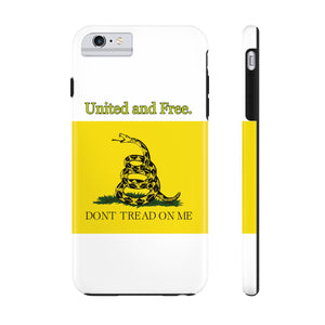 "Gadsden ""Don't tread on me"" Tough Phone Cases.  United and Free. - Warwares Military Shirts and More"