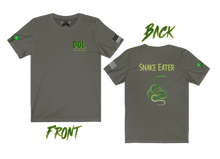 "Load image into Gallery viewer, ""Snake Eater"" (back) version of the ""DOL"" Army Special Forces Short Sleeve Tee - Warwares Military Shirts and More"