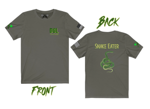 """Snake Eater"" (back) version of the ""DOL"" Army Special Forces Short Sleeve Tee - Warwares Military Shirts and More"