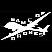"Load image into Gallery viewer, ""Game of Drones"" Sticker - Warwares Military Shirts and More"