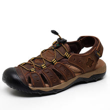 Load image into Gallery viewer, Closed Toe Men's Sandals, Genuine Leather, quick laces, great for the beach/outdoors - Warwares Military Shirts and More