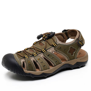 Closed Toe Men's Sandals, Genuine Leather, quick laces, great for the beach/outdoors - Warwares Military Shirts and More