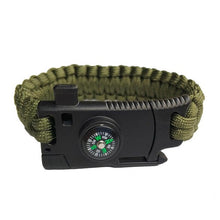 Load image into Gallery viewer, Military 4 in 1 Bracelet: Compass, Knife, Whistle, and Paracord - Warwares Military Shirts and More