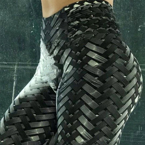 Weave Pattern Leggings: Printed, Fitness/Workout Leggings - Warwares Military Shirts and More
