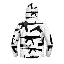 Load image into Gallery viewer, Gun Collage Hoodie - Black and White - Warwares Military Shirts and More