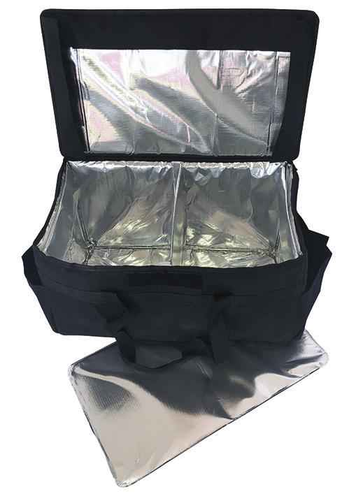 "Large Insulated Hot/Cold Restaurant Delivery Bag - 23""x14""x14"""