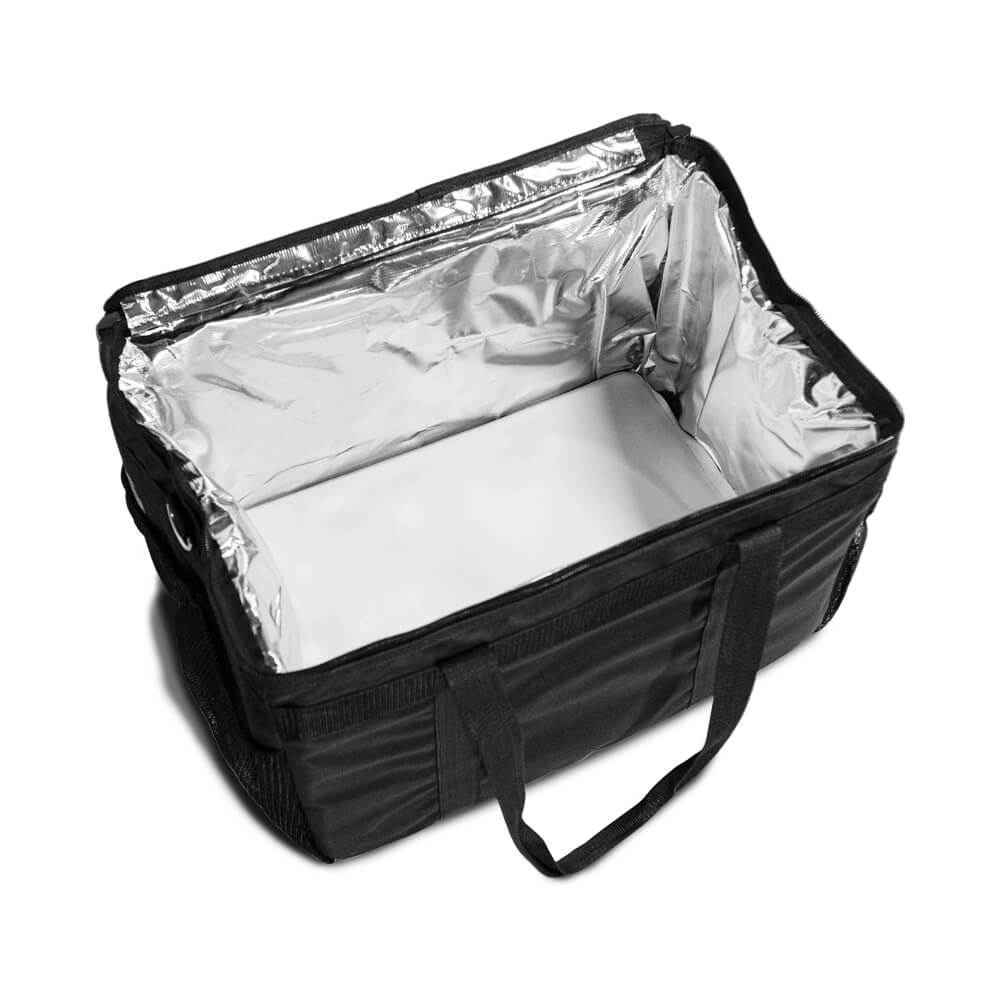 "Large SILVER LINING Hot/Cold Meals on Wheels Delivery Bag - 20""x14.5""x17"""