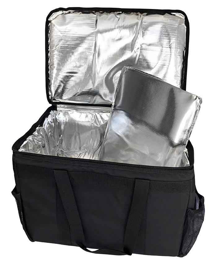 "Medium Insulated Hot/Cold Silver Lining Delivery Bag - 23""x13""x11"""