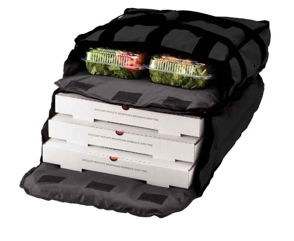 Two Compartment Pizza Bag - Holds up to 5 Pizzas